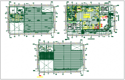 Office building plan detail dwg file