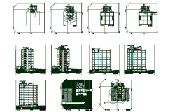 Office building plan detail with electrical plan layout detail dwg file