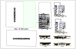Office building plan view dwg file