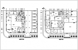 Office building plan view of floor in detail dwg file