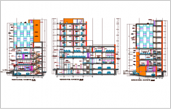 Office building section plan detail dwg file