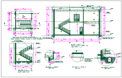 Office building section view detail dwg file