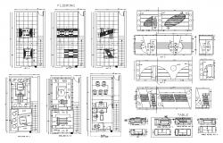 Office building structure 2d view autocad file