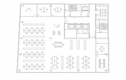 Office building structure detail 2d view layout plan in autocad format