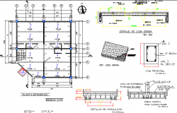 Office building structure details with construction dwg file