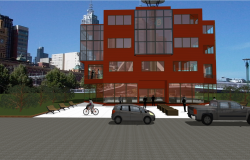 Office building three floors dwg file