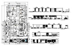 Office building with detail dimension in DWG file