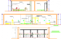 Office cafeteria layout plan dwg file