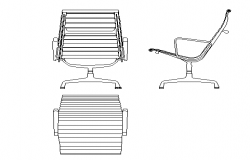 Office chair details dwg file