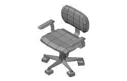 Office chair front elevation