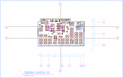Office design with 15 floor plan view dwg file