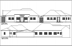 Office elevation detail dwg file