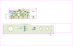 Office elevation with wine store dwg file