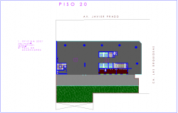 Office floor plan view with twenty number view dwg file