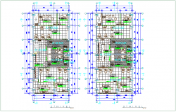 Office floor plan with architectural view dwg file