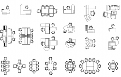 Office furniture dwg file