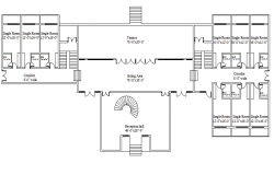 Office layout plan dwg file