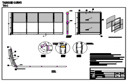 Office partition panel design drawing