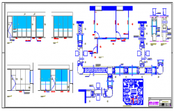 Office partitions design drawing