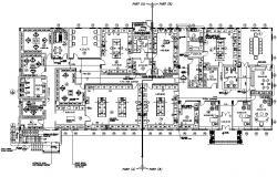 Office plan Design CAD File Download