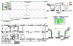 Office plan and section detail dwg file