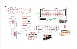 Office room plan layout view dwg file