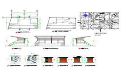 Office sanitary detailed architecture project dwg file
