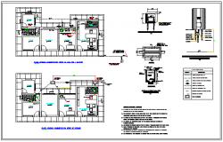 Office sanitary facility design drawing