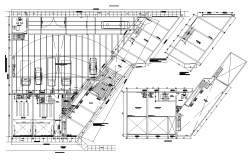Office structure building detail plan layout autocad file