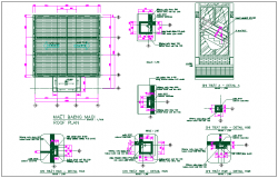 Office structure detail dwg file