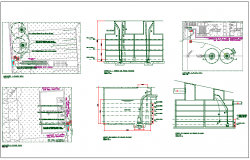 Office structure plan detail view dwg file