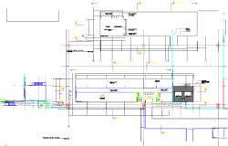 Office working plan detail and roof plan detail dwg file