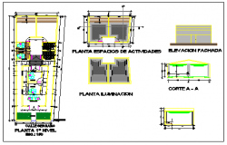 Offices design drawing