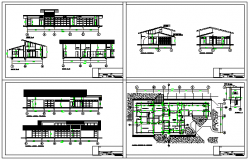 Offices modules project design drawing