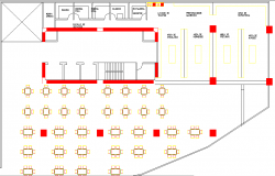 Offices towers layout plan dwg file