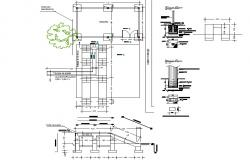 Oil ramp for tractors plan detail dwg file