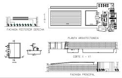 Olympic diving pool and sports center elevation, section and plan details dwg file