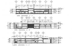 Olympic school elevation and sectional details dwg file