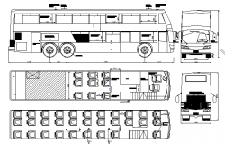 Omni travelling bus architecture project dwg file