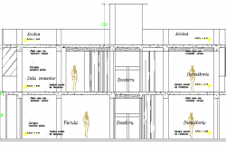 One Family House Design and Architecture Plan dwg file