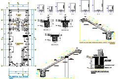 One Family Housing Staircase Construction Details dwg file