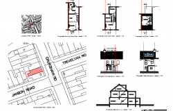 One family house architecture project details dwg file