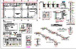 One family house constructive details dwg file