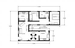 One family house detailed architecture layout plan details dwg file