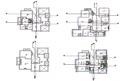 One family house framing plan and plan cad drawing details dwg file