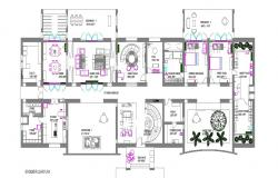 One family house ground floor plan cad drawing details dwg file