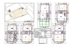 One family house plan and cover plan cad drawing details dwg file