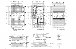 One family house plan detail dwg file,