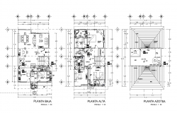 One family house plan. detail dwg file,