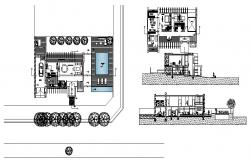 One family house section and plan cad drawing details dwg file